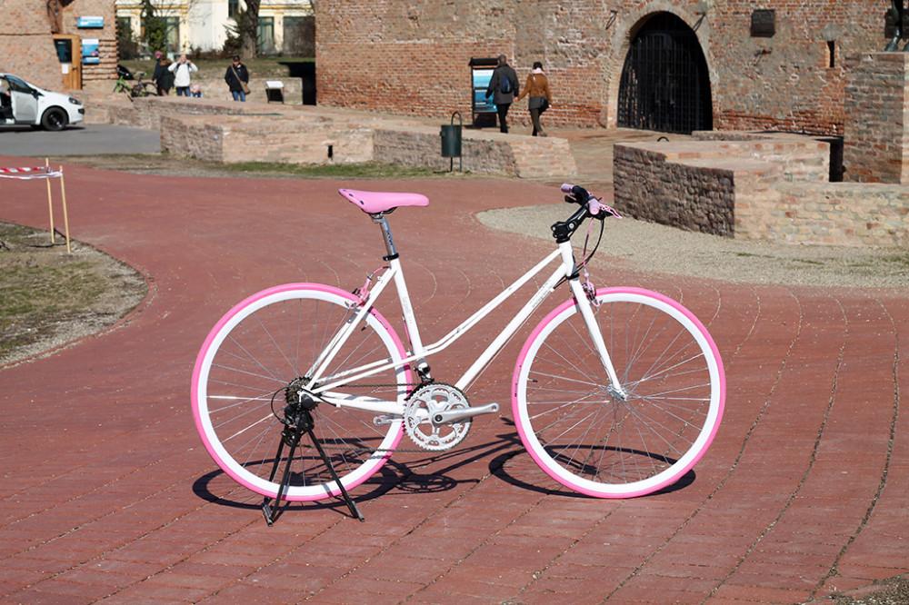 Csepel Torpedo vázra épített egyedi női kerékpár - 14sp - feher