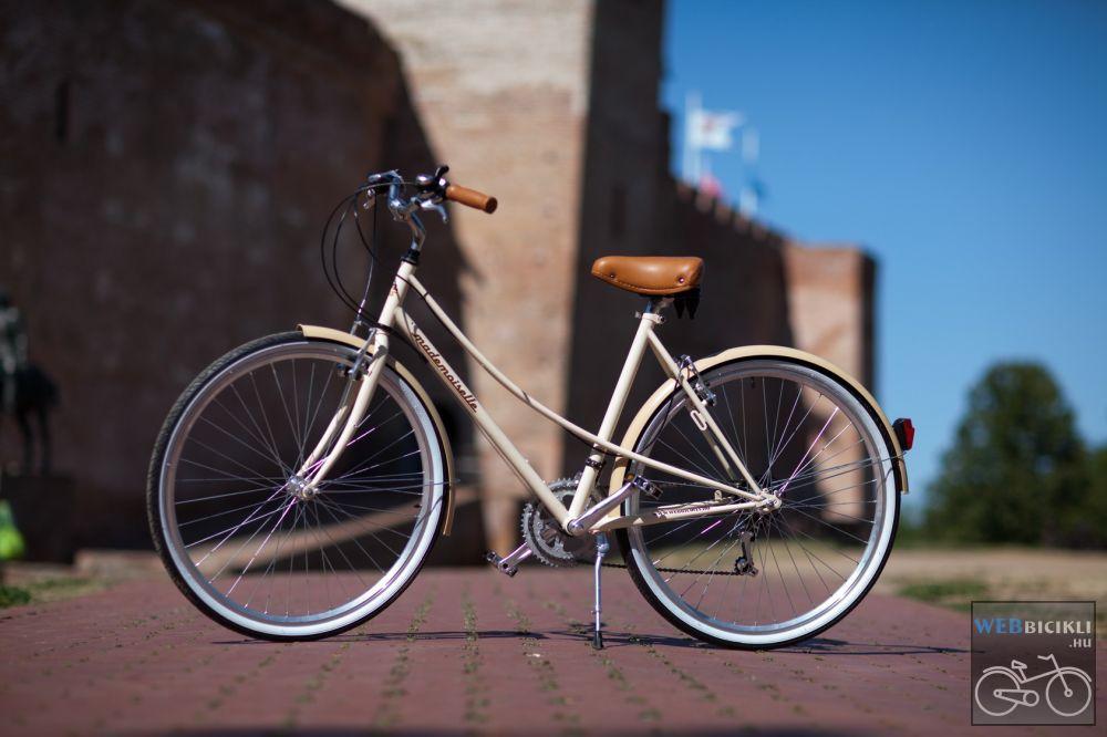 """Mademoiselle női kerékpár 28"""" - 300 féle színben - 7 sebességes - Most ajándék fonott kosárral & defektgátló folyadékkal - Krém színben"""