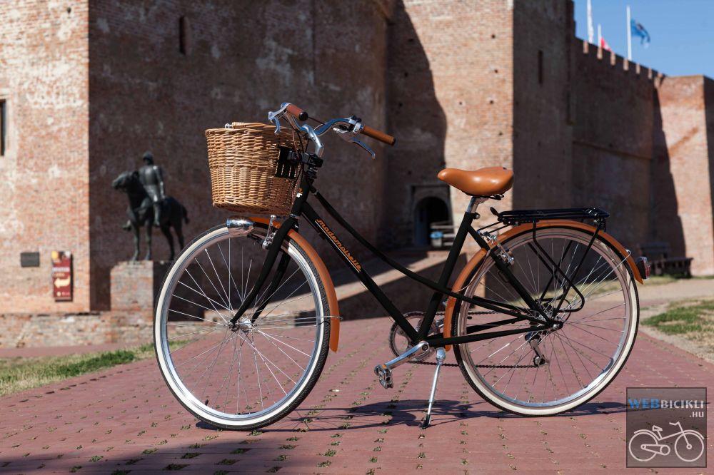 """Mademoiselle női kerékpár 28"""" - 300 féle színben - 7 sebességes - Most ajándék fonott kosárral & defektgátló folyadékkal - Fekete színben"""