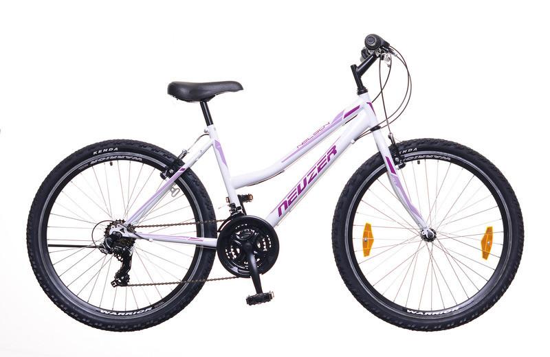 """Neuzer Nelson 30 - 26"""" Lány MTB kerékpár 15""""-os extra kicsi vázzal - Fehér/bíbor-mályva"""