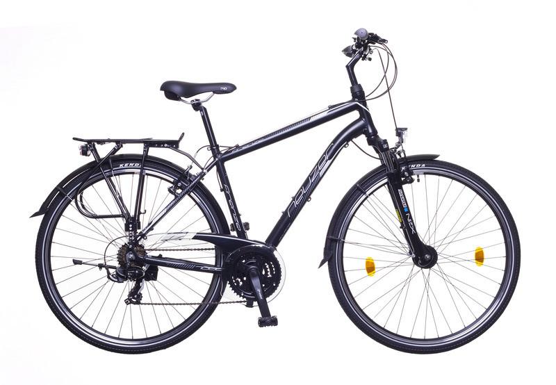 "Neuzer Firenze 100 férfi trekking kerékpár - fekete/ fehér-szürke matt - 19"""