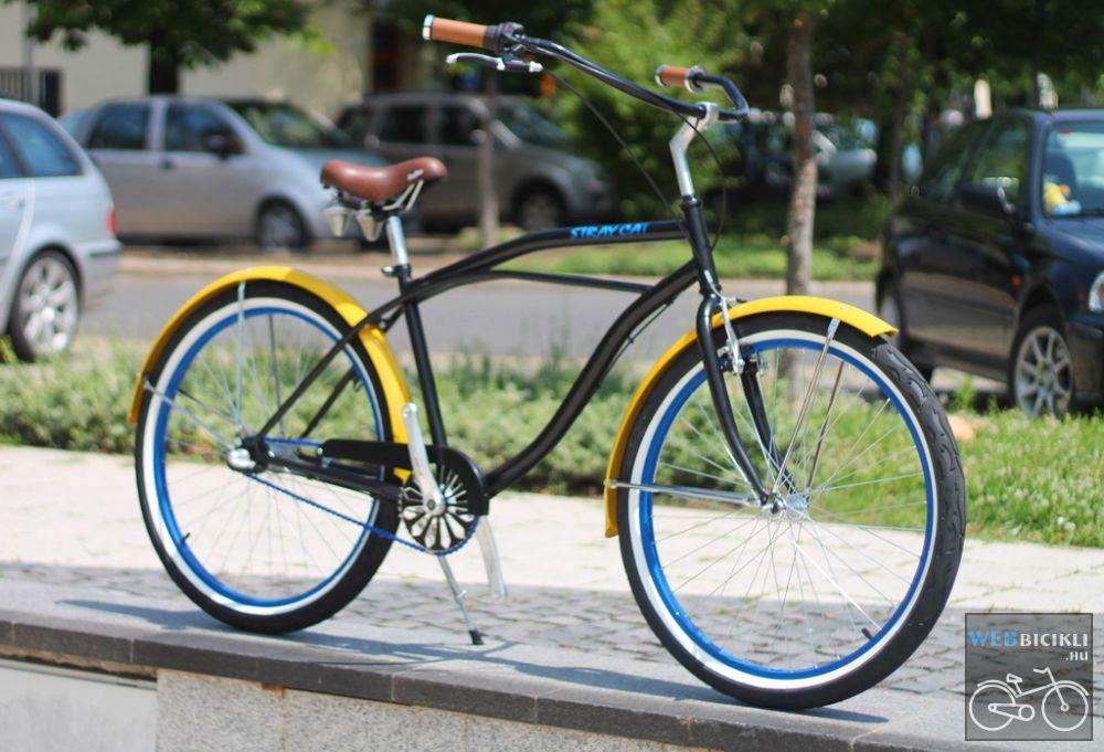 Egyedi Stray Cat Férfi Cruiser Kerékpár 1sp/ 3sp - Fekete - Citrom - Kék